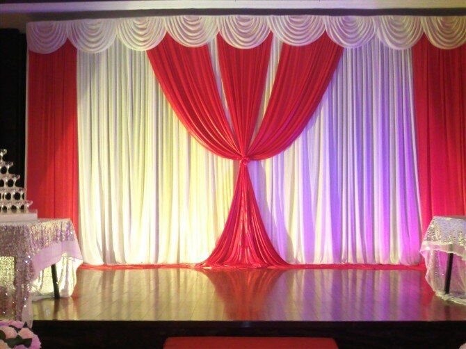 2015 NEW Designed Wedding Backdrops with luxurious Gold Swag for Wedding Decorations 3m*6m