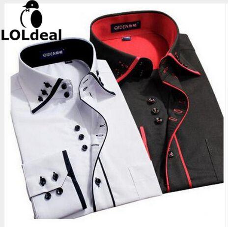 2017 neue Design Twill Baumwolle Reine Farbe Weiß Geschäfts Formalen Kleid Shirts Männer Mode Langarm Sozialen Shirt Große Größe 5XL 6XL