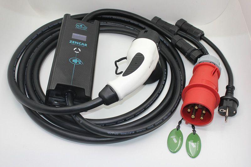 ZENCAR EVSE 10 16 20 24 32A einstellbare CEE 5 Schuko adapter stecker IEC62196 Typ 2 5 M kabel Elektrische auto ev ladekabel Duosida