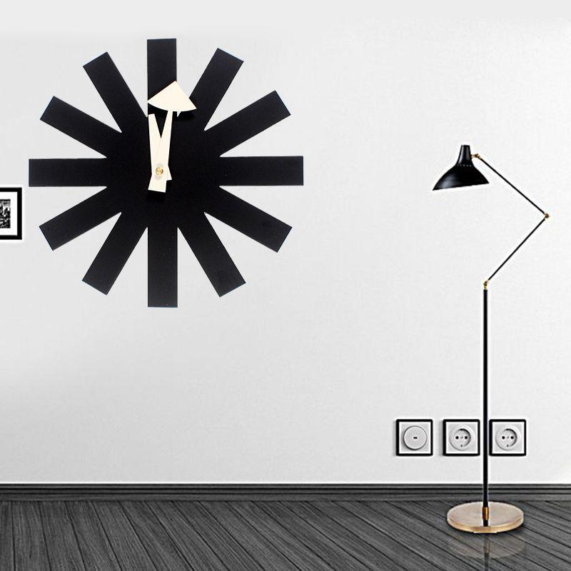 111 offres spéciales designers numérique horloges murales autocollant noir horloge astérisque horloge design moderne Designer horloge murale cuisine