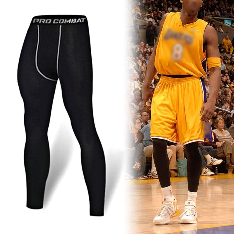 Summates Fitness Men Running Tights New High Elastic Compression Sports Leggings Quick Dry Training Pants Gym Socks Plus Sizes