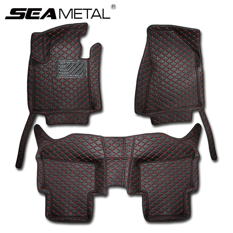 LHD For KIA Sportage QL Kx5 4th 2018 2017 2016 Car Floor Mats Rugs Leather Rugs Carpet Black Interior Automobile Rug Accessories