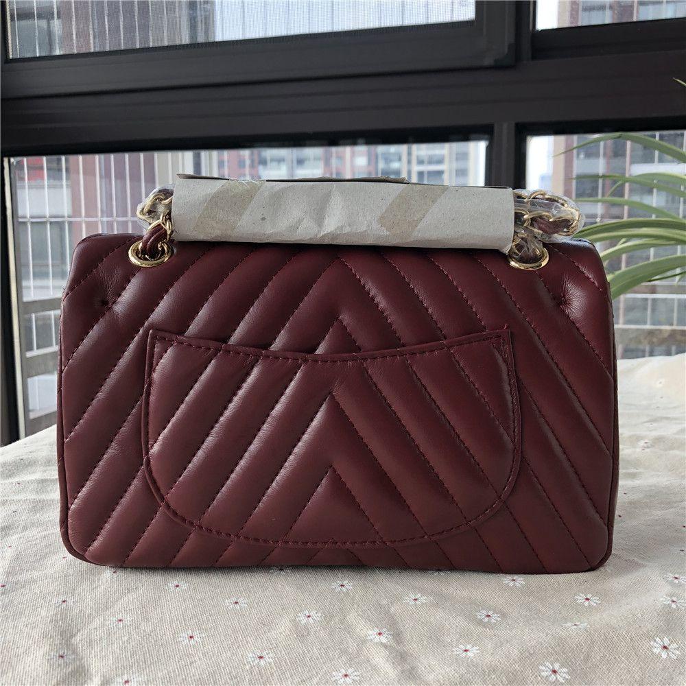 Esbear Top Qualität Frauen Lammfell Echt Leder Handtaschen Designer Chevron Schulter Taschen Messenger Bags Heißer Kleine Klappe Kette Taschen
