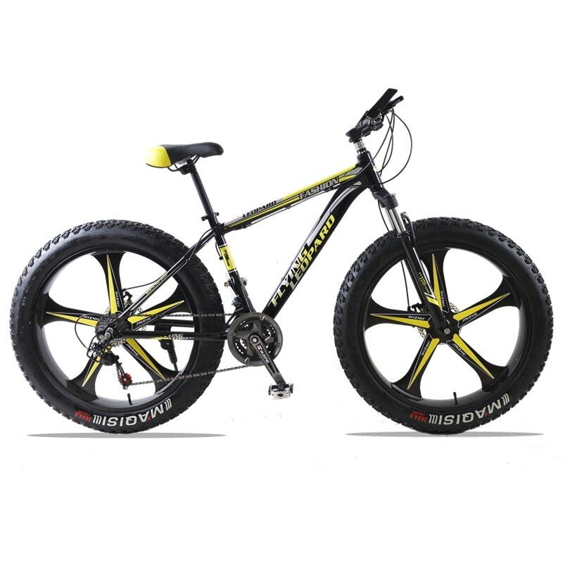 Mountain Bike 24Speed Cross-country Aluminum Frame 26x4.0 Fat bike Snow bicycle road bicycles Spring Fork Unisex Aluminum Alloy