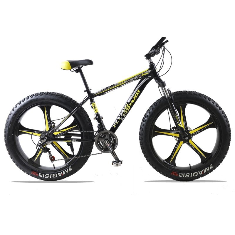 Mountain Bike 24Speed bicycle Cross-country Aluminum Frame 26x4.0 Fat bike Snow road bicycles Spring Fork Unisex Aluminum Alloy