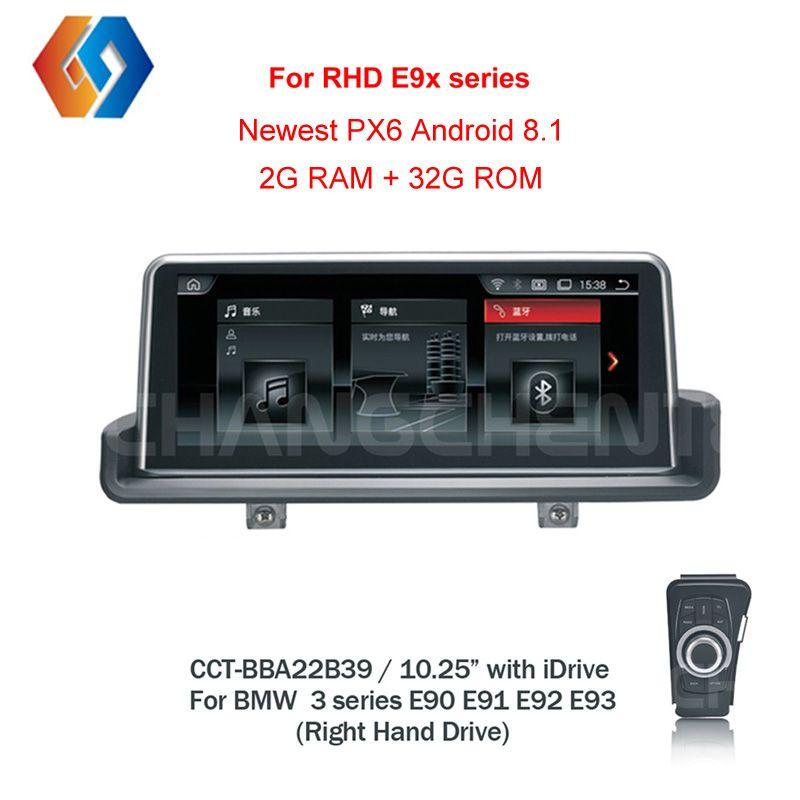 RHD E90 Android 8.1 Px6 für Rechtslenker E90 E91 E92 E93 Auto Multimedia GPS Navigation BT WiFi Touchscreen freies iDrive39