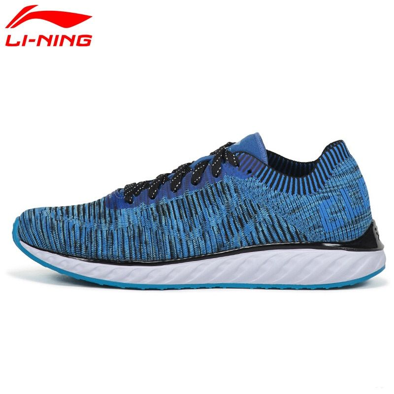 Li-Ning Men's LN CLOUD IV Professional Running Shoes Cushion Breathable LiNing Sneakers Reflective Sport Shoes ARHM025 XYP548