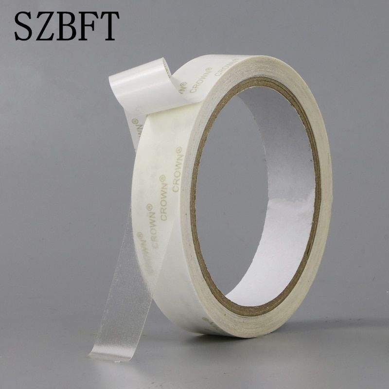SZBFT 1.2CM-6CMX10M Strong ultra thin transparent PET high temperature double-sided adhesive tape  paper