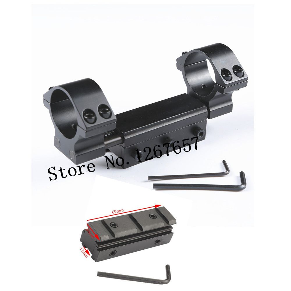 Airgun Rifle Mount 25.4mm / 30mm Ring w/Stop Pin 11mm / 20mm Rail Rifle Scope Mount Weaver Dovetail Rings with 11mm adapter