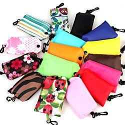 Tasche platz einkaufstasche, Umwelt Umweltfreundliche folding reusable Tragbare Schulter griff Tasche Polyester für Reise Grocery