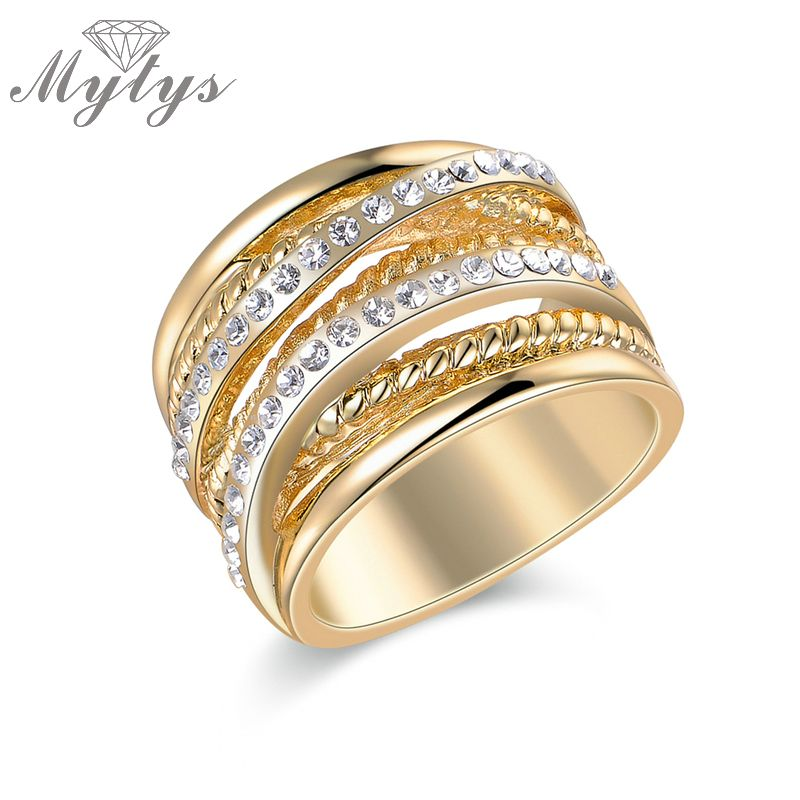 Mytys High Quality GP Rings with Gift Box Jewelry Accessory for Women New Arrival R1212