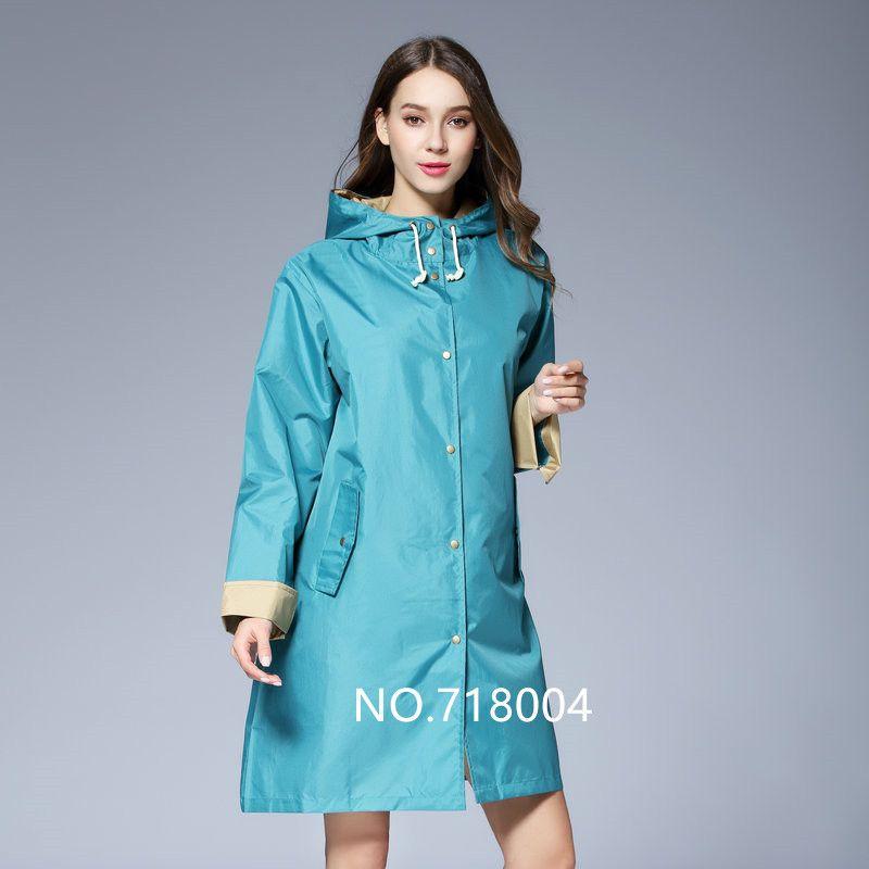 2018 newest cloak Long Thin Raincoat Women Waterproof Light Rain Coat Ponchos Jackets Female Chubasqueros capa de chuva