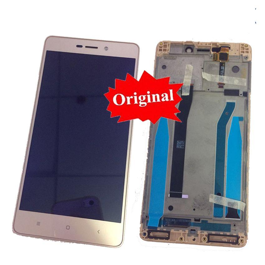 Assemblée originale de numériseur d'écran tactile d'affichage à cristaux liquides de capteur en verre + cadre pour des pièces mobiles de Xiaomi Hongmi3 Redmi 3/3 Pro/3 s