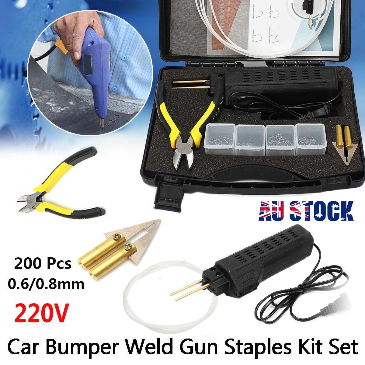 Hot Stapler Car Bumper for Fender Fairing for Welder for Gun Plastic Repair Kit 200 Staples Auto Body Soldering Iron