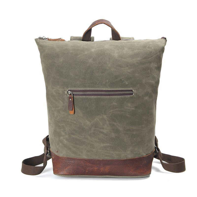 Army Green Men Backpack Canvas Huge Travel School Shoulder Computer Backpack Functional Versatile Bag Fashion Male Knapsack H036