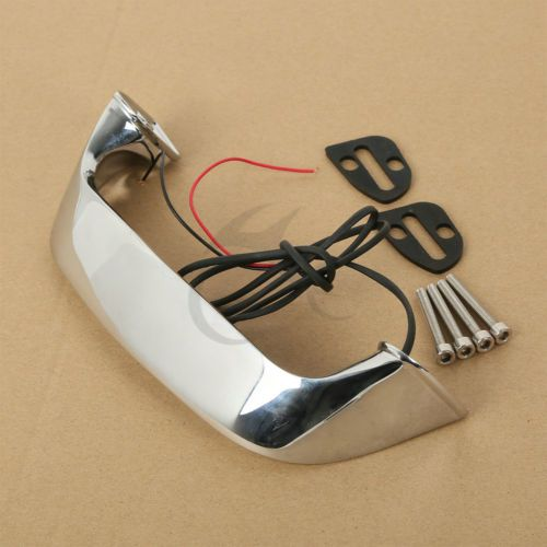 Motorcycle Chrome ABS Trunk Handle Light LED For Honda Goldwing GL 1800 01-16 12 13 14 15 2006 2008