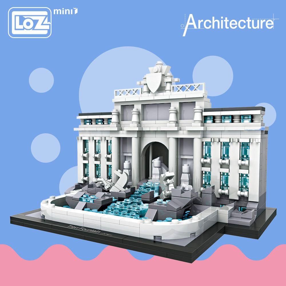 LOZ Mini blocs Trevi fontaine modèle éducatif Kit jouets pour enfants blocs de construction Architecture enfants assemblage jouets bricolage 1015