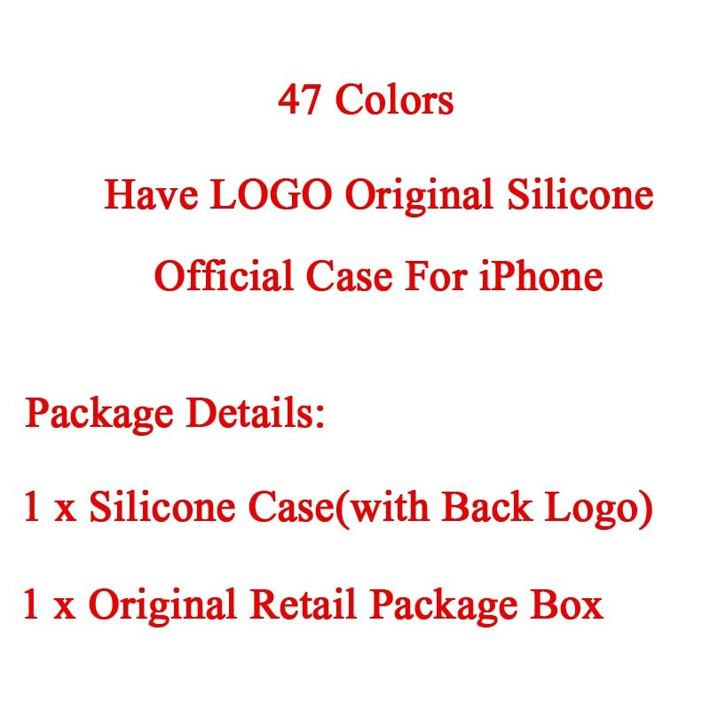 Have LOGO Original Silicone Official Case For iPhone 8 Case For iPhone X 7 plus Cover For Apple iPhone 5 5S SE 6 6S Retail Box