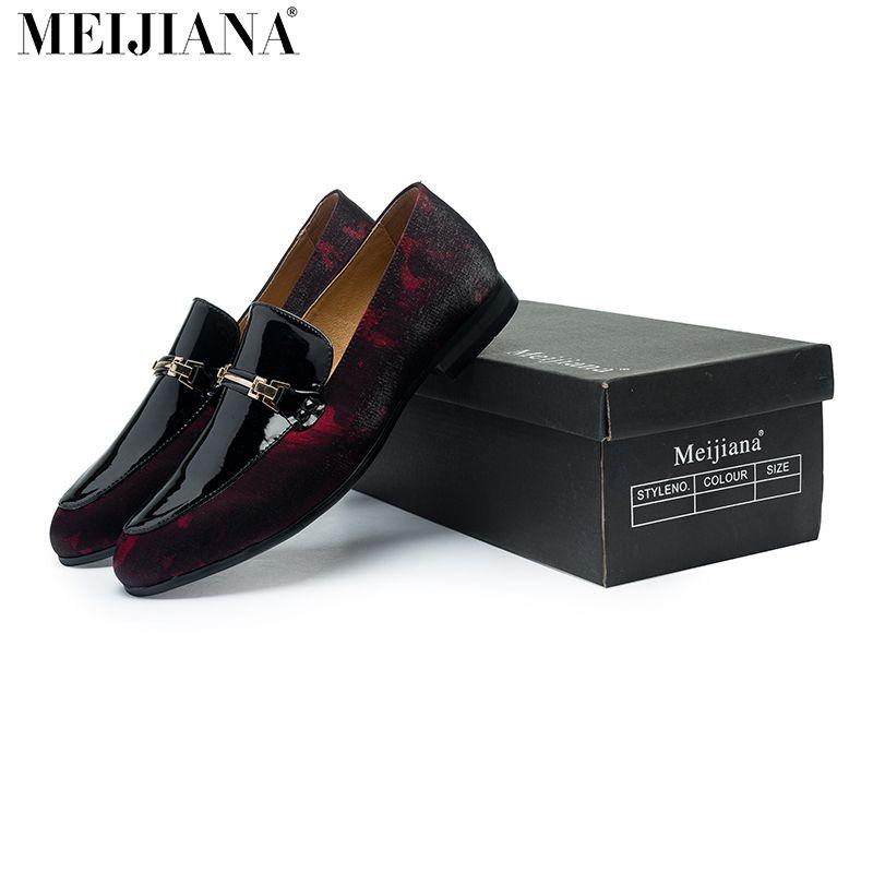Ручной работы кожаные мужские лоферы, meijiana Бренд 2016 г. Дизайн мягкая кожа обувь Для мужчин