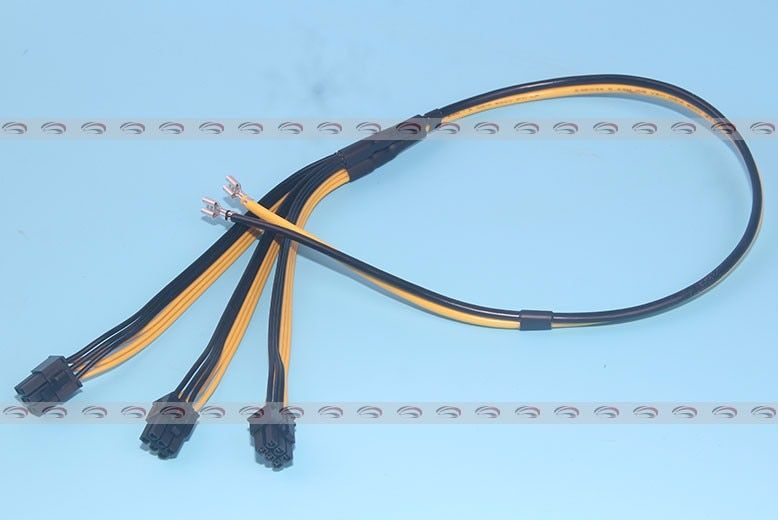 100pcs S7 to Triple 3X  PCIe PCI Express 6Pin GPU Graphics Card Splitter Power Cable Cord for BTC miner Machine Bitcoin Litecoin