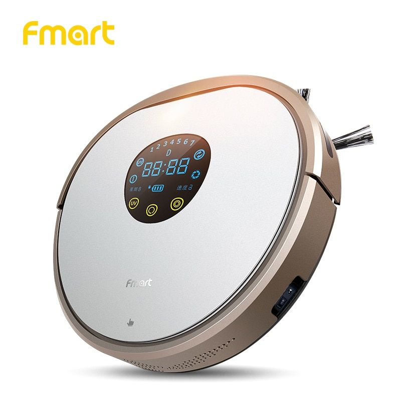 Fmart YZ-V2 Robot Vacuum Cleaner UV Dust Sterilize 1000PA For Home Cleaning Appliance With Self-Charge For Wood Floor Aspirator