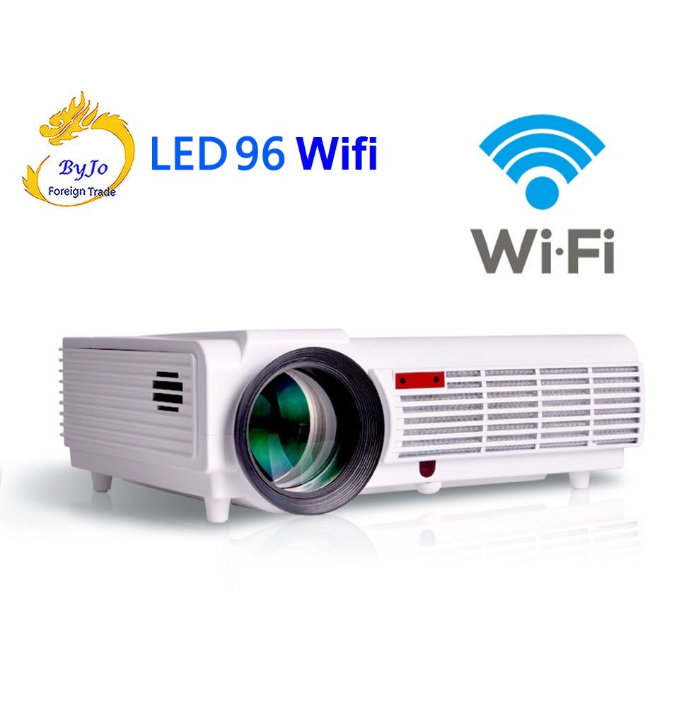 Poner Saund LED96 wifi led projektor 3D android wifi hd BT96 proyector 1080 p HDMI Video Multi screen theater Startseite theater system