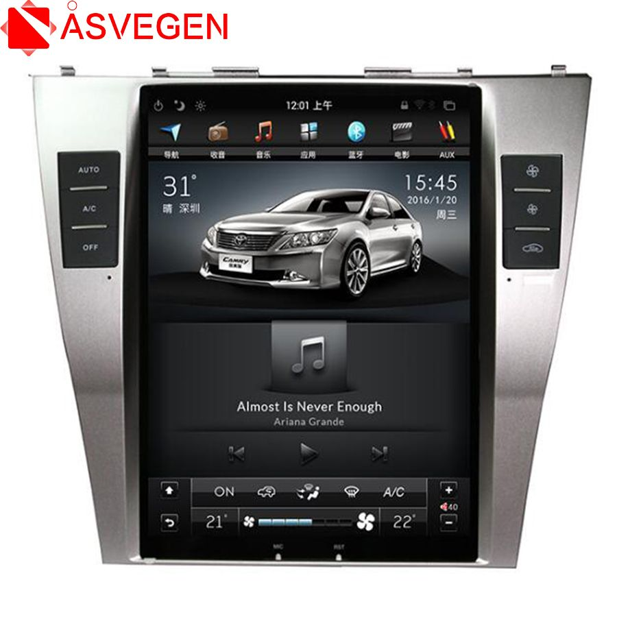 Asvegen 10.4'' Vertical Touch Screen Car DVD For Toyota Camry 2007 2008 2009 Android 6.0 Audio Stereo Radio multimedia Player