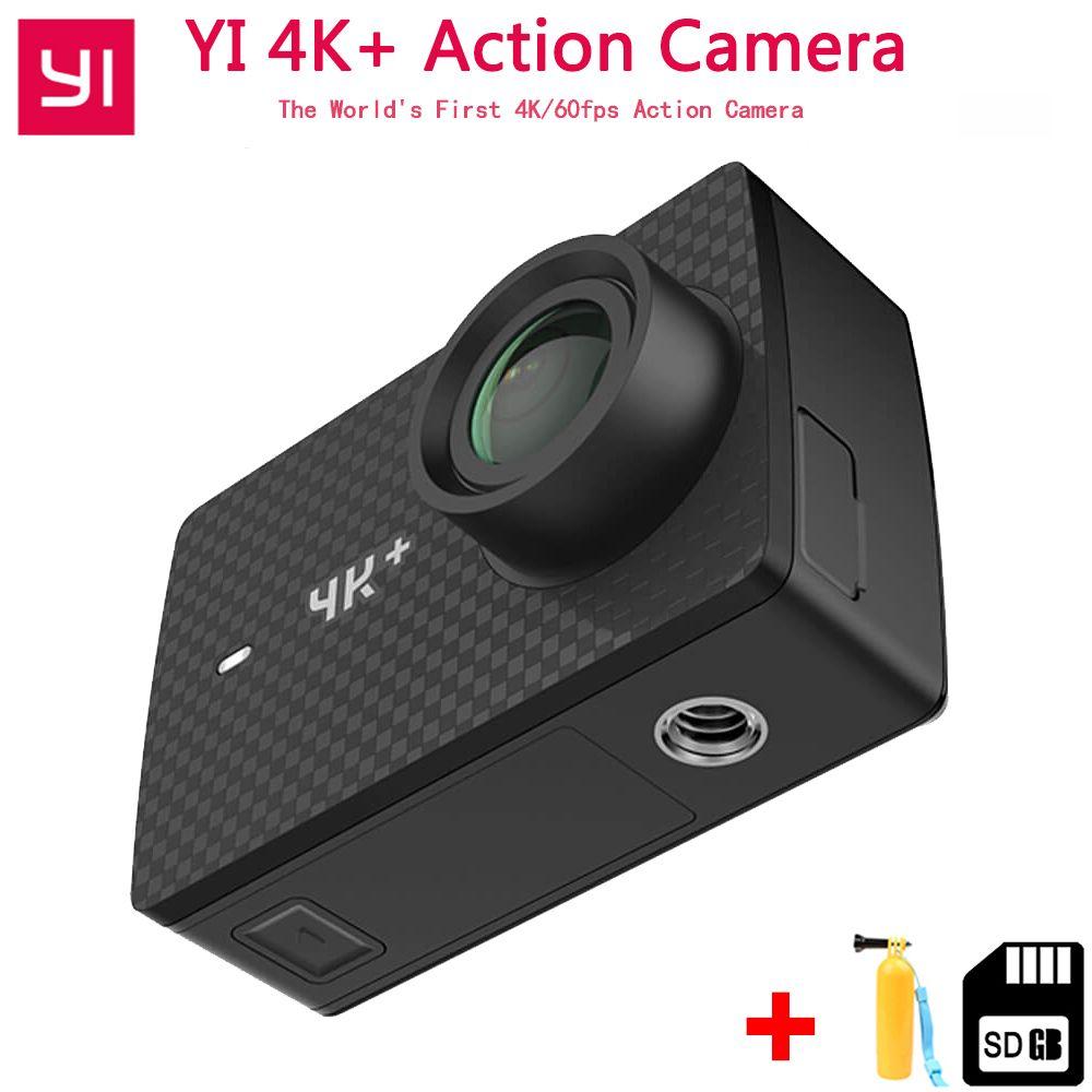 Xiaomi YI 4 karat + (Plus) action Kamera Internationale Ausgabe ERSTE 4 karat/60fps Amba H2 SOC Cortex-A53 IMX377 12MP CMOS 2,2 LDC RAM WIFI