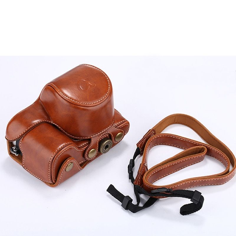 PU Leather Camera Case For Sony Alpha A6000 A6300 16-50mm Lens Retro Vintage Bag Case