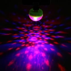 Mini USB Disco Light Crystal Magic Ball Portable Stage Home Party Colorful Light Karaoke LED Decorations Party Effect Light