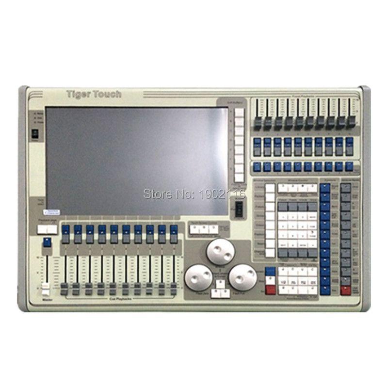Лидер продаж! Тигр сенсорный контроллер свет этапа, DMX контроллер LED этап Освещение 2048/4096 DMX Каналы dmx512 консоли с кейс