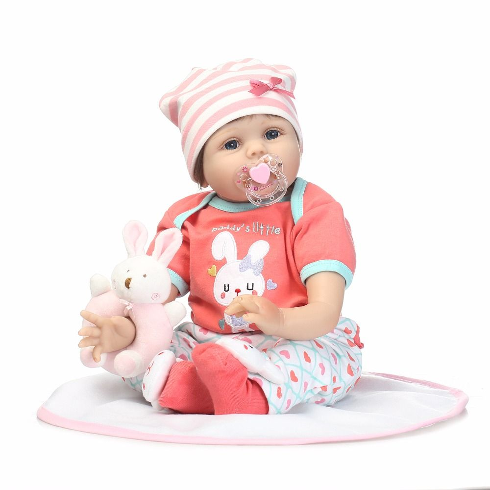 55cm Silicone Reborn Girl Baby Doll Play House Toy Like Real 22inch Newborn Princess Toddler Babies Doll Kids Birthday Xmas Gift