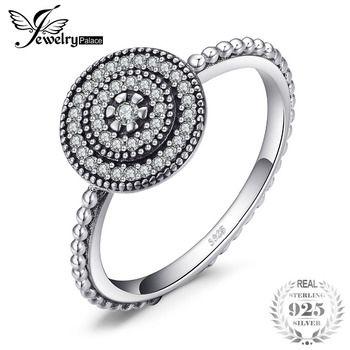 JewelryPalace 925 Sterling Silver Timeless Amizade do Halo do Anel de Presente Para Sua Mãe Namorada Presente de Aniversário de casamento Jóias Finas