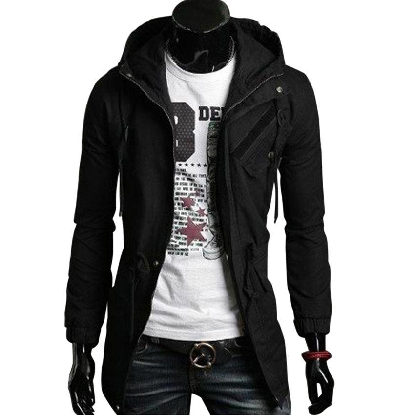 Hohe Qualität Baumwolle Trenchcoat Männer Art Und Weise Dünnen männer Jacken Oberbekleidung Casual Windjacke Herren Trench Mantel Casacos