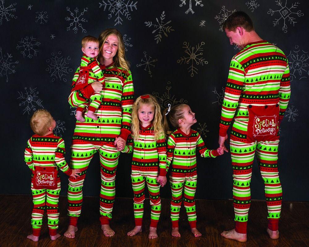 De noël Famille Ensemble D'une Seule Pièce Salopette Pyjamas Vêtements De Noël Famille Pyjamas Vêtements De Nuit Famille vêtements assortis