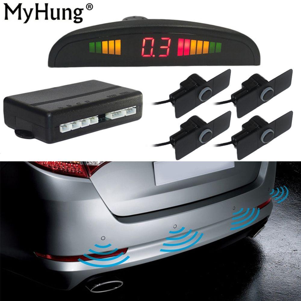 16.5mm Original Parking Sensors Car Parking Assistance Auto Reverse Backup Radar Detector System LED Display Flat Sensor Monitor