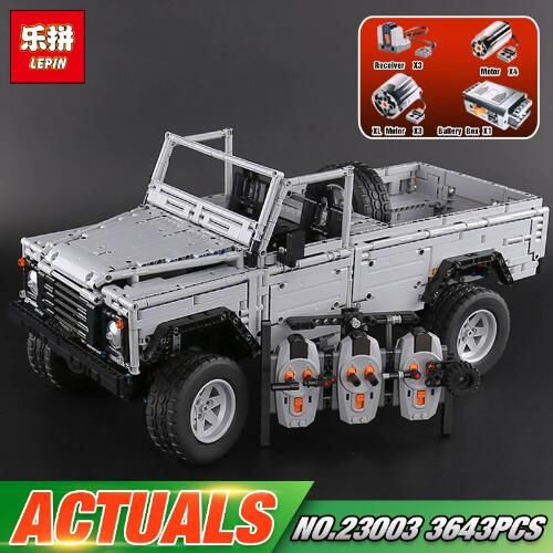 DHL Lepin 23003 3643Pcs Technic series MOC Remote Control Wild off-road vehicle Set Building Blocks Bricks toys for Children
