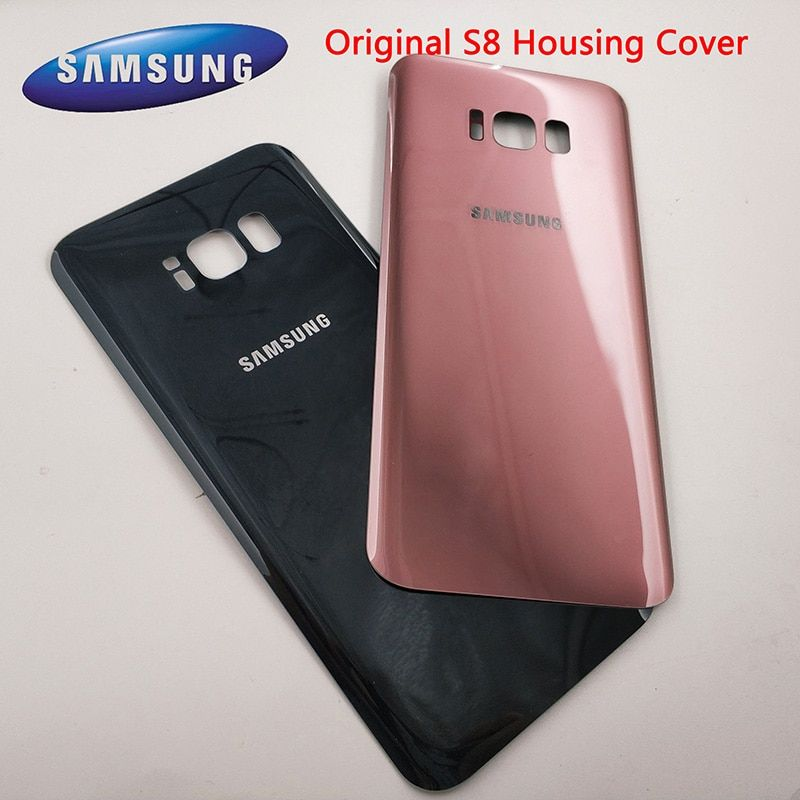 Original Glass SAMSUNG Galaxy S8 S8 Plus G950F G955F Back Battery Cover Door Rear Housing Case Replacement + Adhesive Sticker