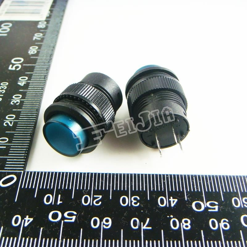 R16-503BD With LED Green 1A/250V 4Pin Non Self-locking Push Button Switch (Self reset switch) 100Pcs/lot