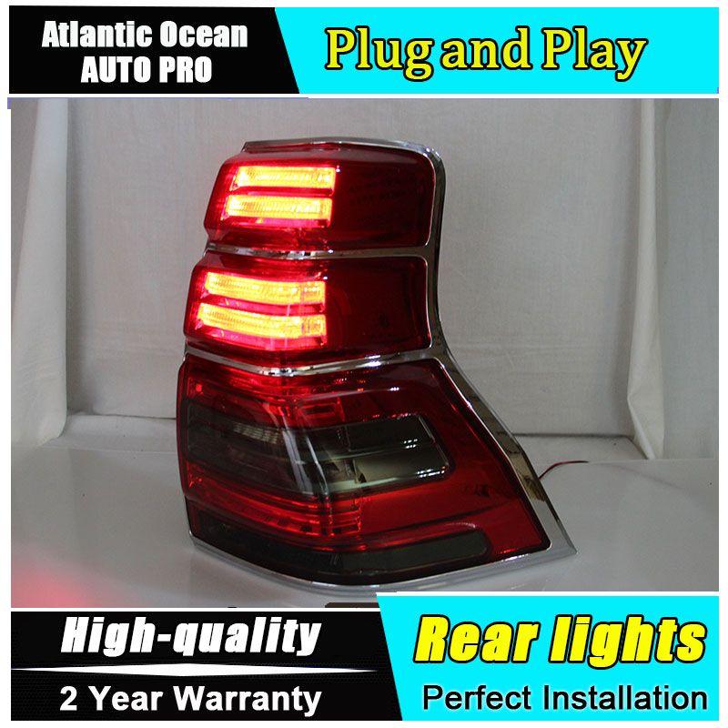 A & T Auto Styling für Toyota Prado LED Rückleuchten 2010-2016 Prado Begrenzte Rücklicht Lampe DRL + bremse + Park + Signal led-leuchten