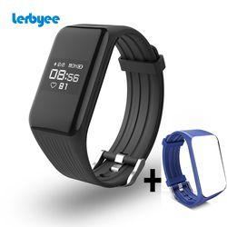 Lerbyee Fitness Tracker  K1 Smart Bracelet Real-time Heart Rate Monitor waterproof IP67  Smart Band Activity Tracker for sport