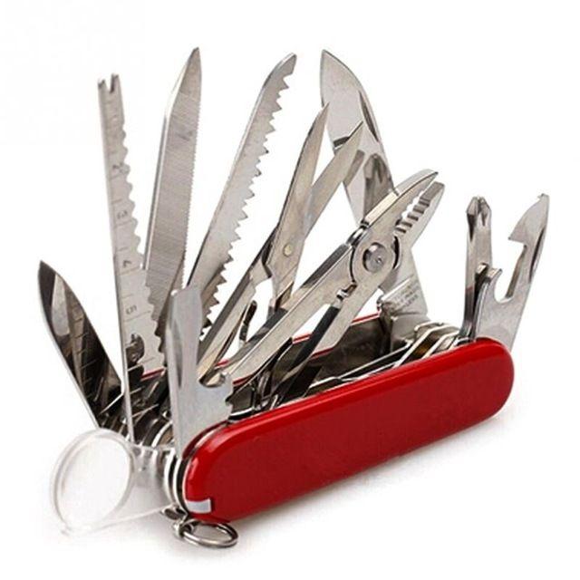 Couteau pliant suisse multifonctionnel de 91mm couteau de survie de Camping en plein air de chasse de poche multi-outils en acier inoxydable