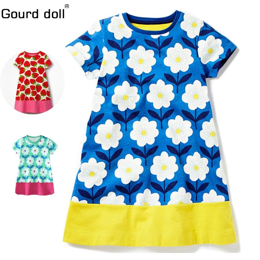 2018 Baby Girls Dress flower Party Summer Floral Dresses for Children Clothing Vestidos Girl Princess Dress Kids Costumes