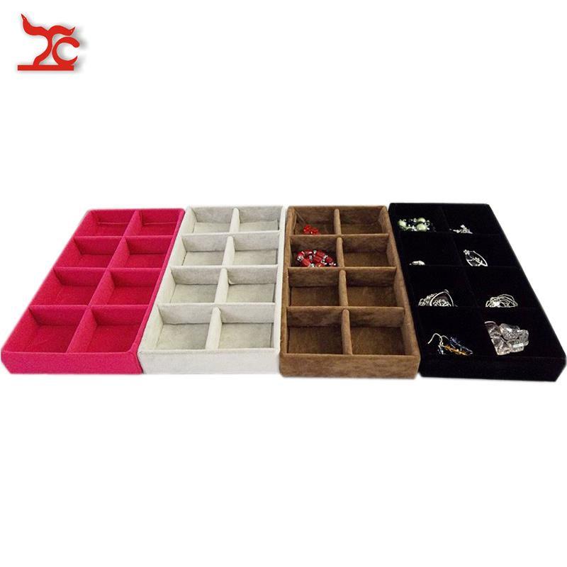 Portable bijoux présentoir velours perle mallette de rangement boucle d'oreille Stud anneau organisateur présentoir 11*22 CM
