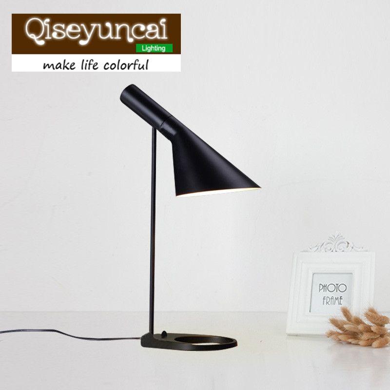 Replica Louis Poulsen Arne Jacobsen Table lamp 5 colors for option Europe AJ Desk Lamp Cafe Aisle Hall LED bulb E27 read Lamps