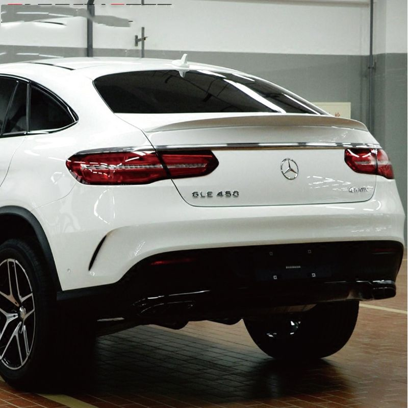 Car Styling For Mercedes-Benz GLE Coupe GLE320 GLE300 GLE400 GLE500 2015 2016 2017 ABS Plastic Unpainted Rear Trunk Wing Spoiler
