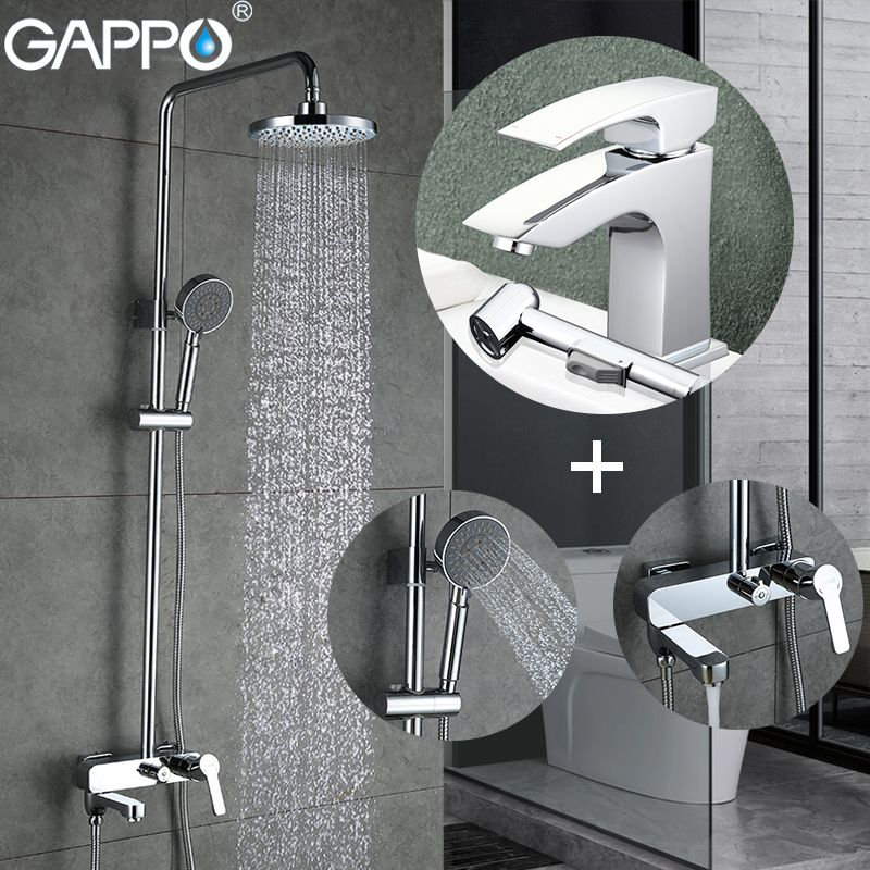 GAPPO Shower Faucets shower tap faucet bathroom mixer basin faucet water sink tap Sanitary Ware Suite