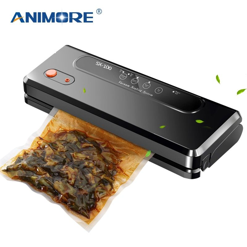 ANIMORE Automatic Vacuum Sealing Machine For Household Use Multi-function Vacuum Sealer Keep Fresh Up To 7x Longer With 10 Bags