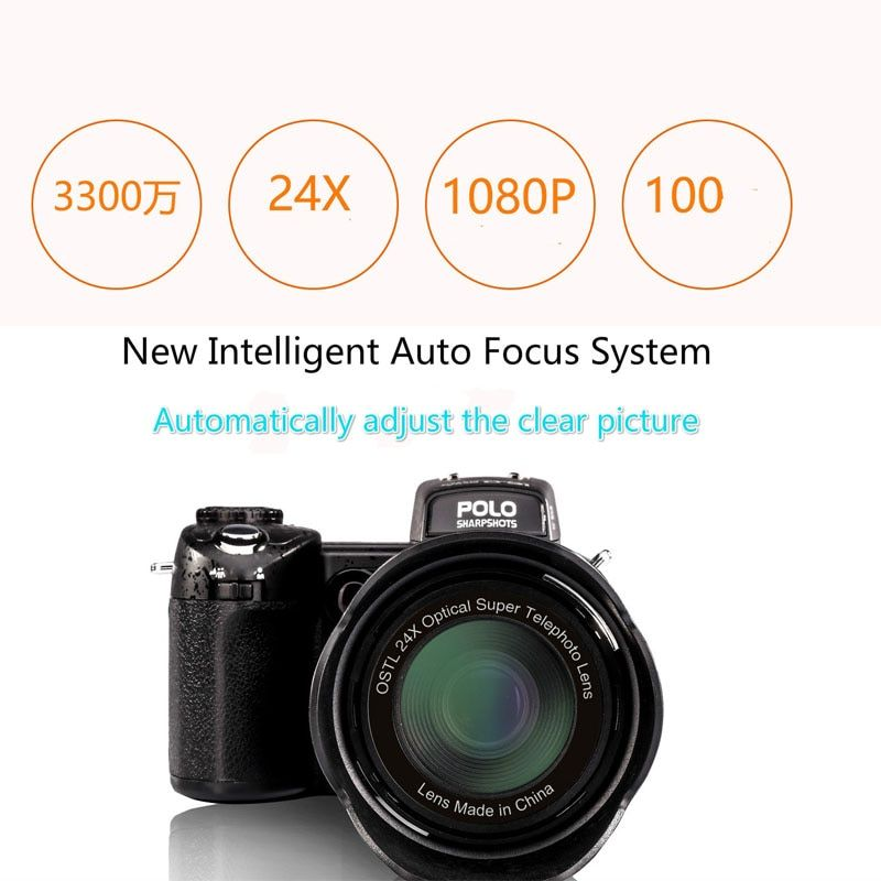 2017 HD PROTAX POLO D7100 Digital Camera 33Million Pixel Auto Focus Professional SLR Video Camera 24X Optical Zoom Three Lens