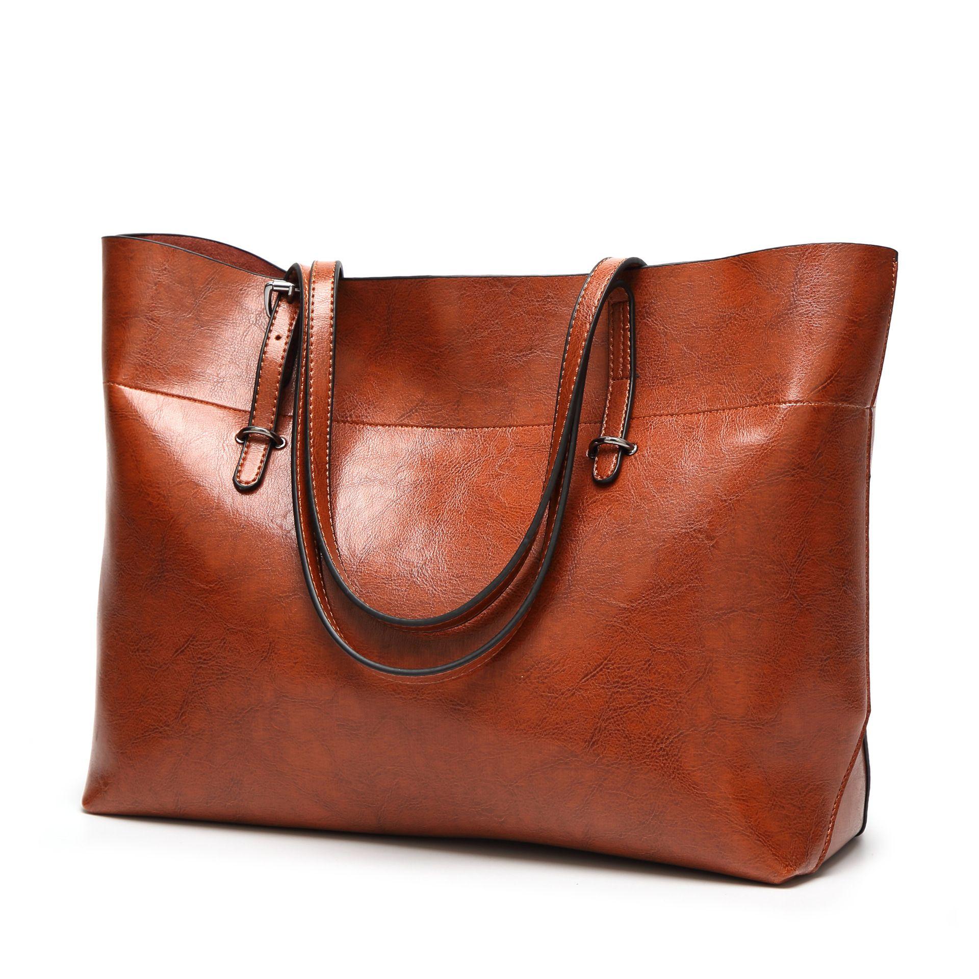 2018 new women's bag simple one-shoulder bag pu leather bucket bag cross version trend lady's handbag